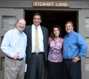 In the photo above, local Republicans running for state or judicial offices are Bill Nojay (current Assemblyman for the 133rd District), Charles Schiano, Jr., a candidate for New York State Supreme Court Justice, Stacy Romeo, candidate for Monroe County Family Court and Rick Milne, current Mayor of Honeoye Falls and running for the 133rd Assembly District seat in a primary. Photo by Peter Carosa