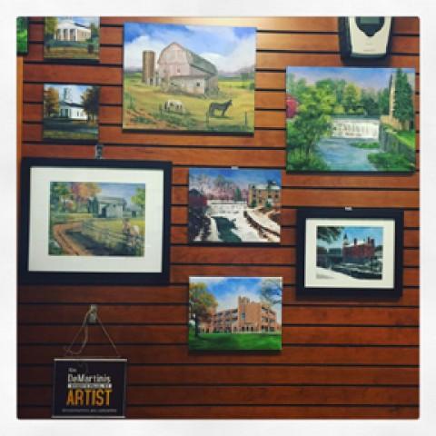Kim DeMartinis's Artwork on Display at Mendon Library