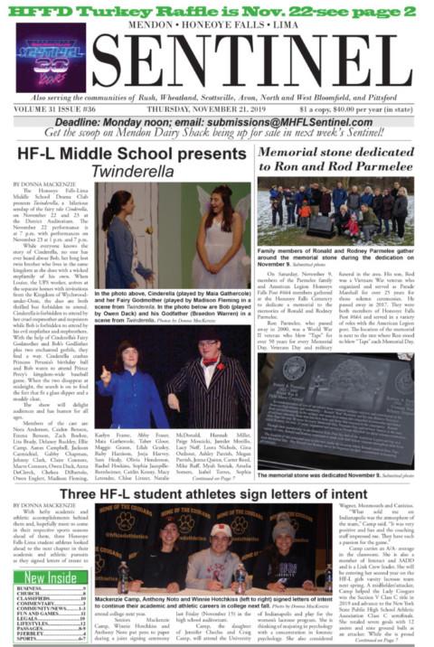 November 21, 2019 Issue of <em>The Sentinel</em>