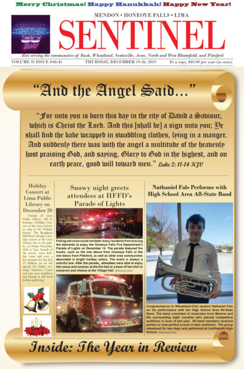 December 19-26, 2019 Issue of <em>The Sentinel</em>