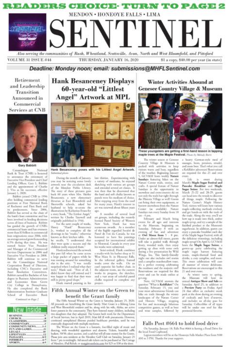 January 16, 2020 Issue of <em>The Sentinel</em>
