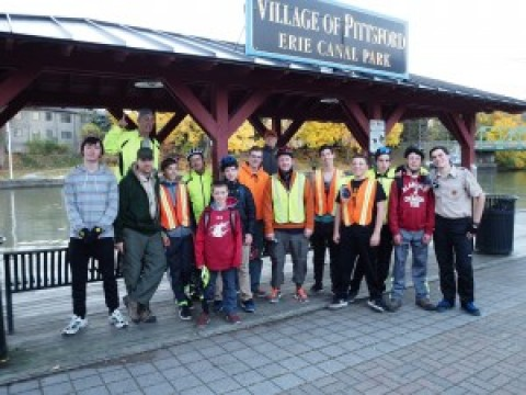 Mendon Boy Scout Troop 105 Completes 106 Mile Bike Trip!