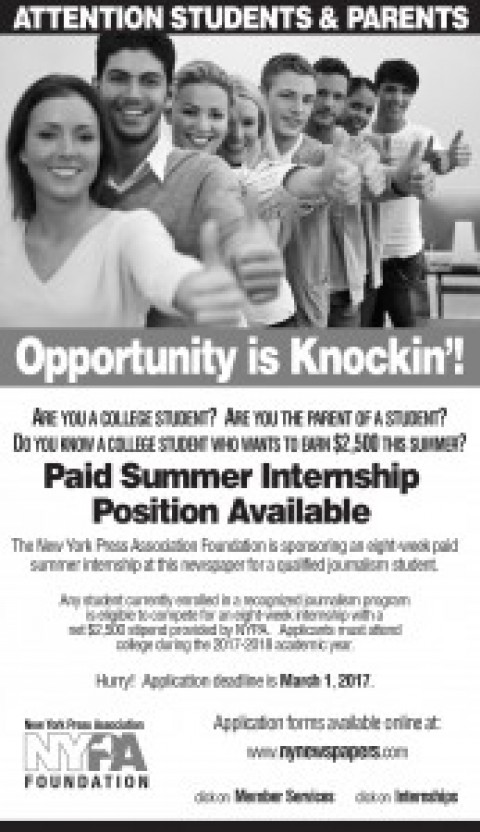 Do You Know a College Student Interested in a Paid Internship?