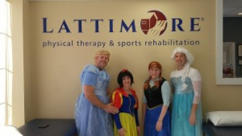 Lattimore PT in Honeoye Falls staff dress up after reaching fundraising goal