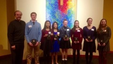 Seven seniors received Hands of Christ Award