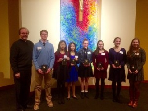 Seven seniors received Hands of Christ Award
