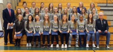 W-C girls soccer state champs receive recognition from state senator Gallivan