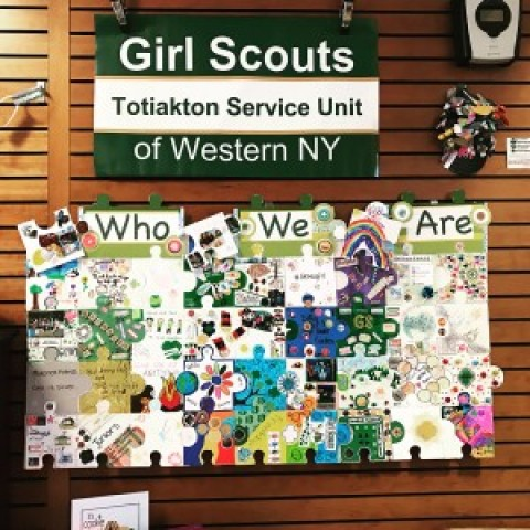 Girl Scouting on Display at Mendon Library