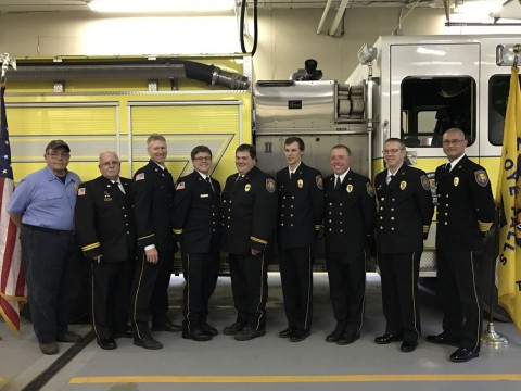 Honeoye Falls Fire Department installs 2017 officers