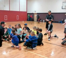 Mendon Storm travel baseball players help out at clinic