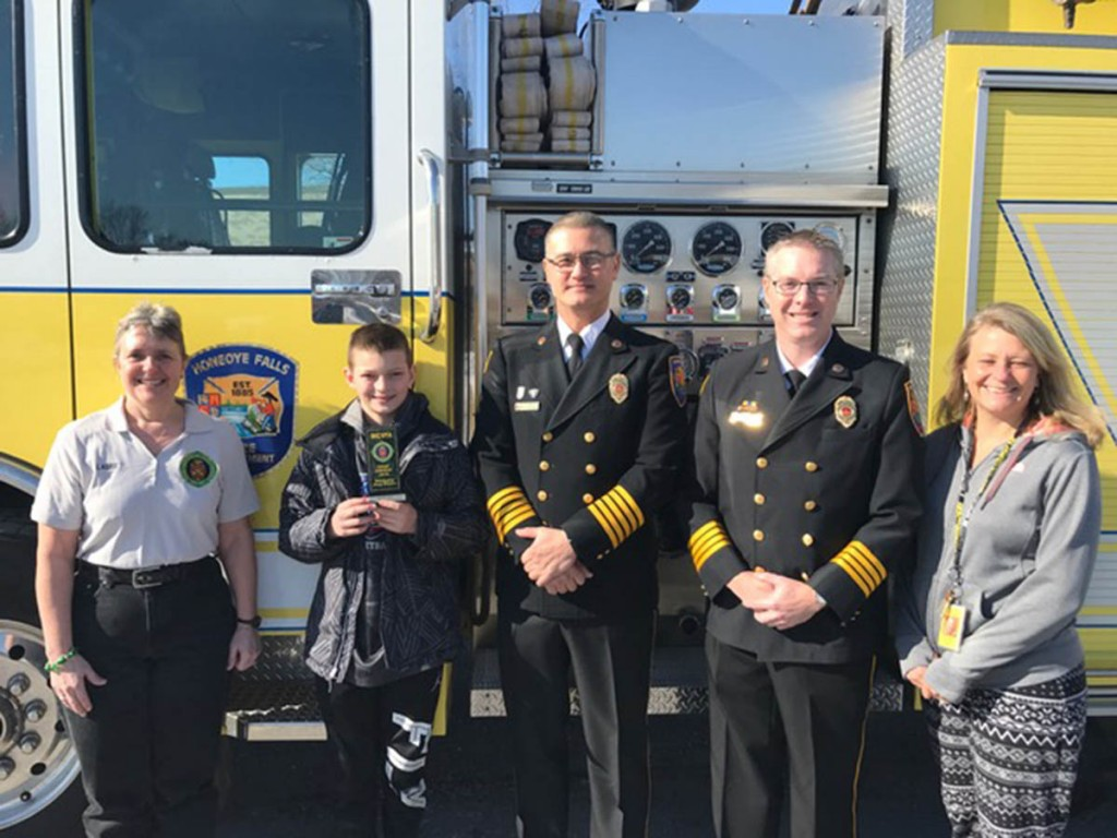 wyatt huff wins fire prevention essay contest mendon honeoye this year s county wide fifth grade fire prevention essay winner is wyatt huff from honeoye falls lima manor school wyatt received his award from laurie