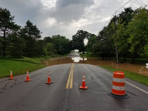 Rain floods Route 251…Again