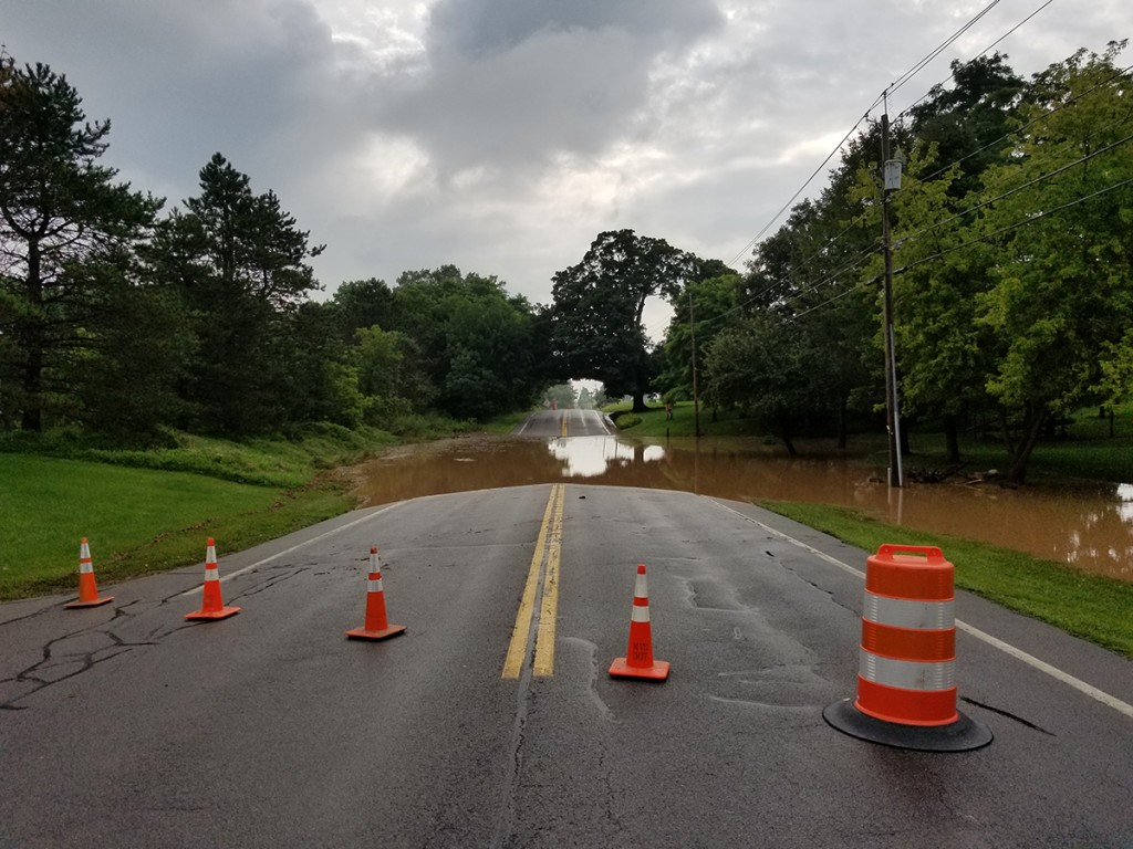 Rain floods Route 251...Again