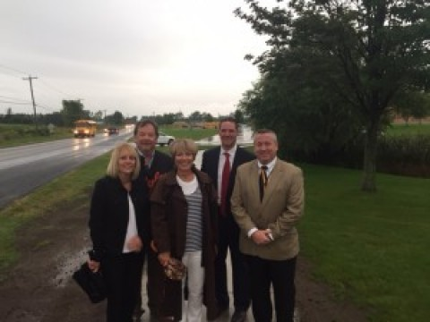 HF-L students can now walk safely on Quaker Meeting House Road