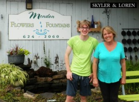 Skyler Smith's Tour of Mendon: Flowers and Fountains and Mendon Dairy Shack