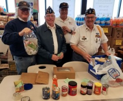 Honeoye Falls-Mendon Legion Post #664 collects food for area cupboards