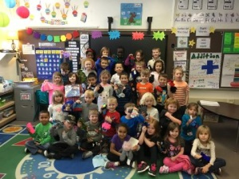 Lima Kindergarten classes donate mittens