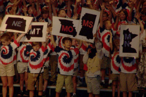 Manor second-graders  present Flag Day show
