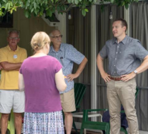 U.S. Congressional Candidate Nate McMurray Visits Scottsville