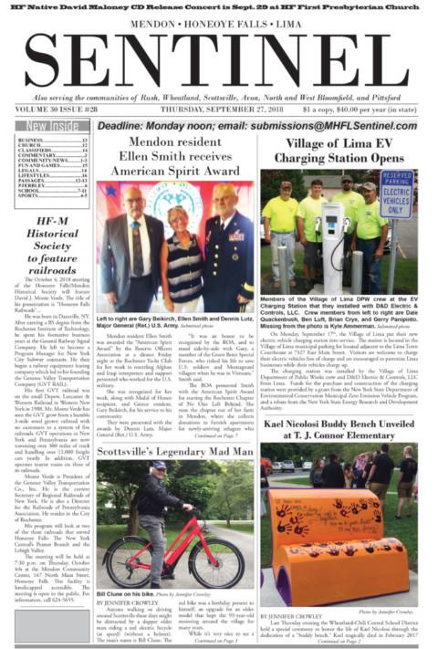 September 27, 2018 Issue of <em>The Sentinel</em>