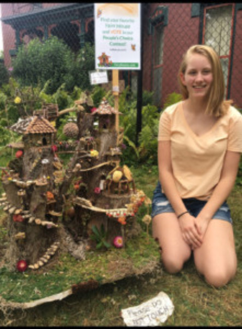 Destiney Schultz wins another Fairy House Competition