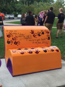 Kael Nicolosi Buddy Bench Unveiled at T. J. Connor Elementary