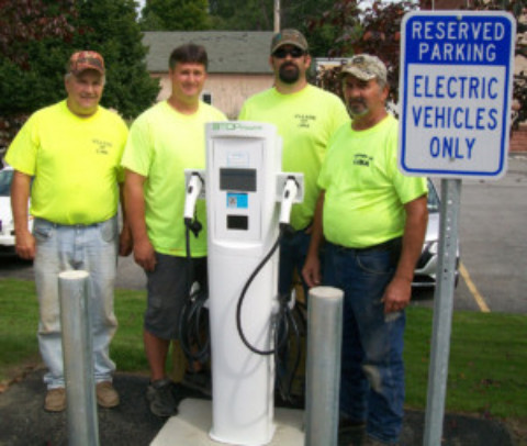 Village of Lima EV Charging Station Opens