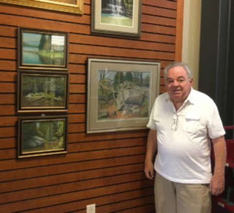 "Local Artist Henry ""Hank"" Besanceney Displays Pastels"