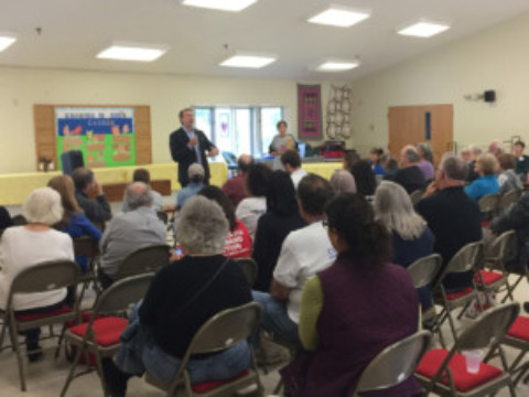 Democrats host 27th District Congressional Challenger
