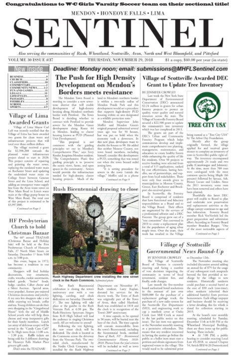 November 29, 2018 Issue of <em>The Sentinel</em>