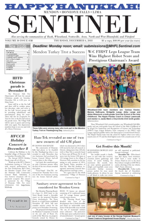 December 6, 2018 Issue of <em>The Sentinel</em>