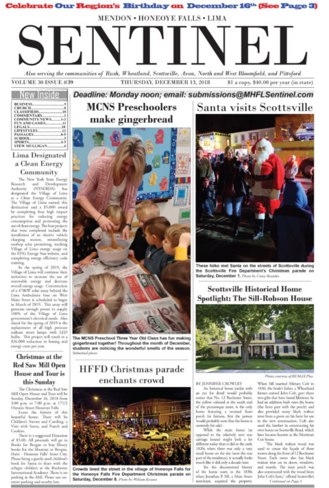 December 13, 2018 Issue of <em>The Sentinel</em>