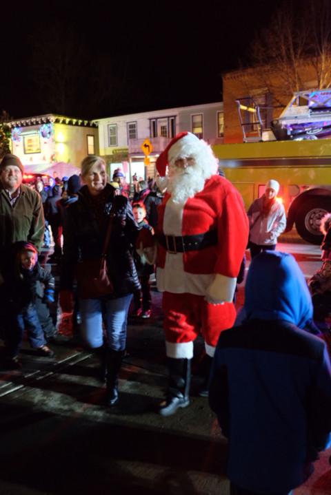 Santa visits Scottsville
