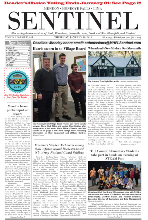 January 10, 2019 Issue of <em>The Sentinel</em>
