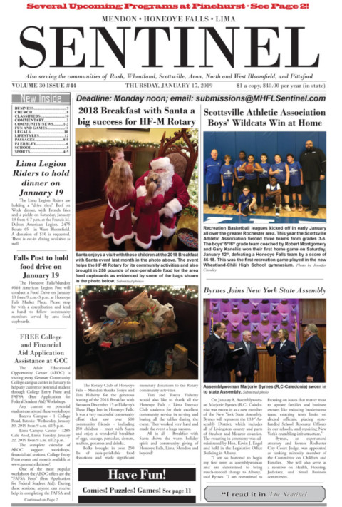 January 17, 2019 Issue of <em>The Sentinel</em>