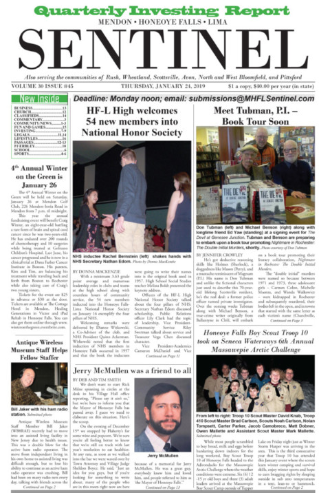 January 24, 2019 Issue of <em>The Sentinel</em>
