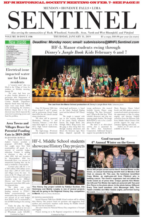 January 31, 2019 Issue of <em>The Sentinel</em>