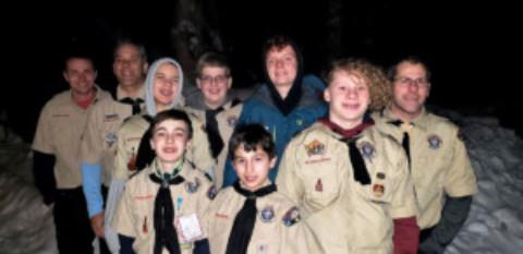 Honeoye Falls Boy Scout Troop 10 took on Seneca Waterways 6th Annual Massawepie Arctic Challenge