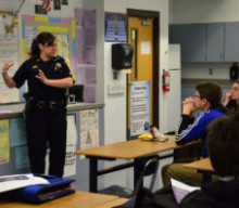 Monroe County Sheriff Deputy makes a big impact on domestic violence education at Wheatland-Chili