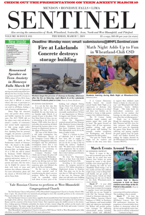 March 7, 2019 Issue of <em>The Sentinel</em>