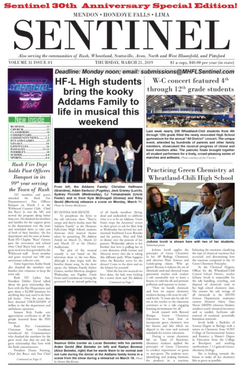 March 21, 2019 Issue of <em>The Sentinel</em>
