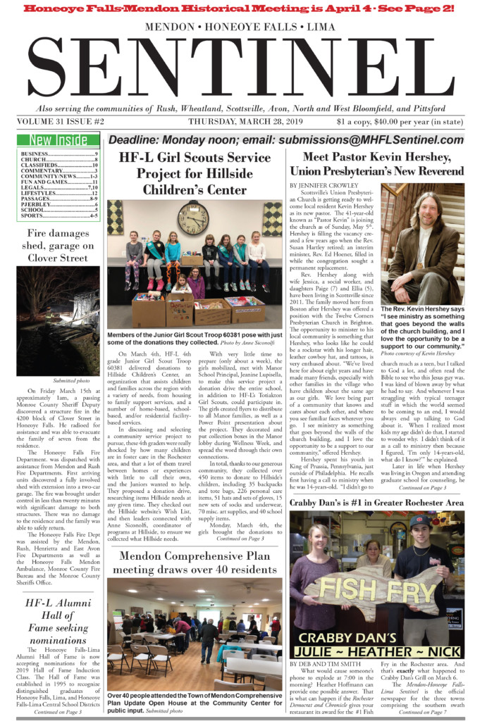 March 28, 2019 Issue of <em>The Sentinel</em>