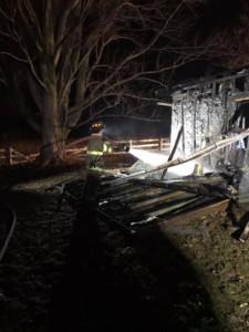 Fire damages shed, garage on Clover Street