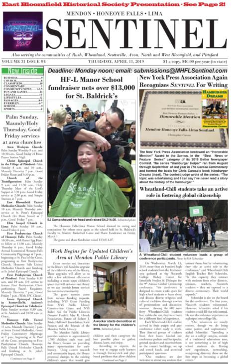 April 11, 2019 Issue of <em>The Sentinel</em>