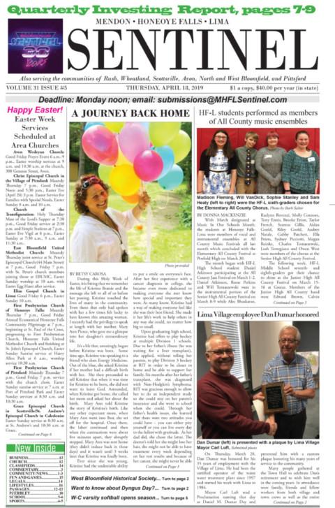 April 18, 2019 Issue of <em>The Sentinel</em>