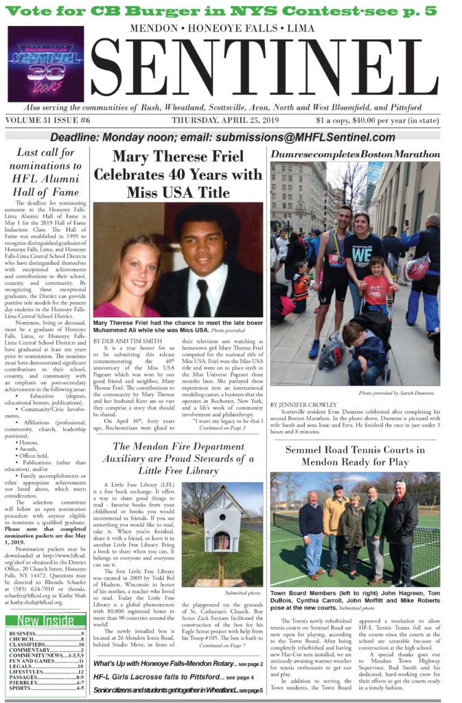 April 25, 2019 Issue of <em>The Sentinel</em>