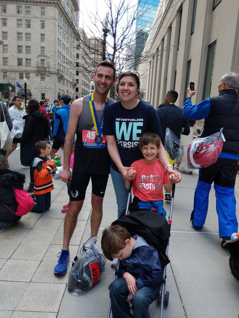 Dumrese completes Boston Marathon