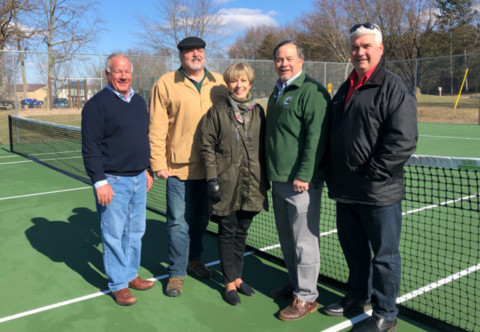 Semmel Road Tennis Courts in Mendon Ready for Play