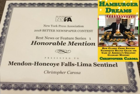 New York Press Association Again Recognizes Sentinel For Writing