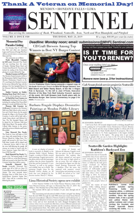 May 23, 2019 Issue of <em>The Sentinel</em>